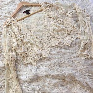 Myth lace bolero boho top | size 3x